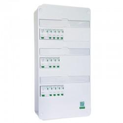 Schneider - Tableau Pré-câblé - Rési9 - 13 modules 3 Rangées - XE AUTO - Réf: SCH13302