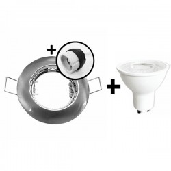 KIT Spot encastré - fixe - 4000k - rond - aluminium - LED 5W - Réf : KRI40031