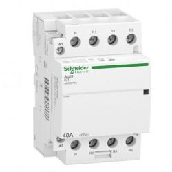 Schneider - Acti9 iDT40 CT - contacteur tête de groupe - 40A 3P+N 4NF 230/240VAC 50HZ - Réf : A9C22740