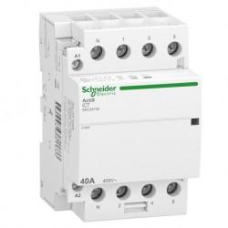 Schneider - Acti9 iDT40 CT - contacteur tête de groupe - 40A 3P+N 4NO 230/240VAC 50HZ - Réf : A9C24740