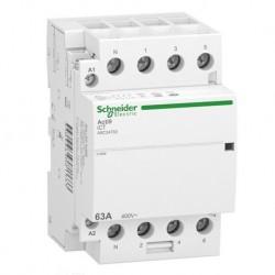 Schneider - Acti9 iDT40 CT - contacteur tête de groupe - 63A 3P+N 4NO 230/240VAC 50HZ - Réf : A9C24763