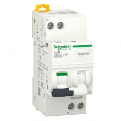Schneider - Acti9 iDD40T - disjoncteur différentiel départ - 1PN C 10A 6kA 30mA type AC - Réf : A9DA2610