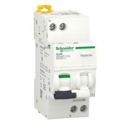Schneider - Acti9 iDD40T - disjoncteur différentiel - 1P+N C 16A 4500A/6kA 30mA type AC - Réf : A9DA2616
