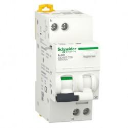 Schneider - Acti9 iDD40T - disjoncteur différentiel - 1P+N C 20A 4500A/6kA 30mA type AC - Réf : A9DA2620