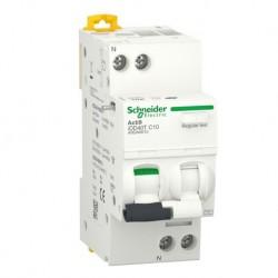 Schneider - Acti9 iDD40T - disjoncteur différentiel - 1P+N C 10A 4500A/6kA 300mA type AC - Réf : A9DA6610