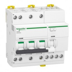Schneider - Acti9 iDD40N - disjoncteur différentiel - 3P+N C 16A 6000A/10kA 30mA type AC - Réf : A9DA3716