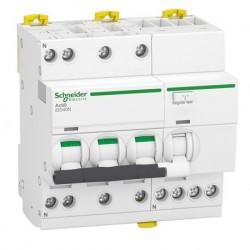 Schneider - Acti9 iDD40N - disjoncteur différentiel - 3P+N C 20A 6000A/10kA 30mA type AC - Réf : A9DA3720