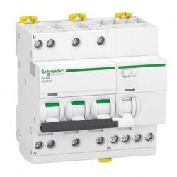Schneider - Acti9 iDD40N - disjoncteur différentiel - 3P+N C 25A 6000A/10kA 30mA type AC - Réf : A9DA3725