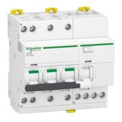 Schneider - Acti9 iDD40N - disjoncteur différentiel - 3P+N C 32A 6000A/10kA 30mA type AC - Réf : A9DA3732