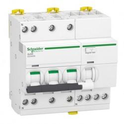 Schneider - Acti9 iDD40N - disjoncteur différentiel - 3P+N C 40A 6000A/10kA 300mA type AC - Réf : A9DA7740
