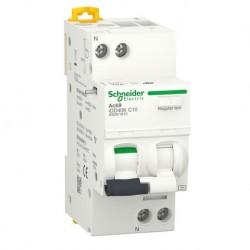 Schneider - Acti9 iDD40K - disjoncteur différentiel - 1P+N C 10A 4500A/4,5A 30mA type AC - Réf : A9DK1610
