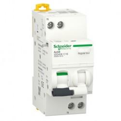 Schneider - Acti9 iDD40K - disjoncteur différentiel - 1P+N C 16A 4500A/4,5A 30mA type AC - Réf : A9DK1616