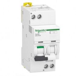 Schneider - Acti9 iDD40K - disjoncteur différentiel - 1P+N C 25A 4500A/4,5A 30mA type AC - Réf : A9DK1625