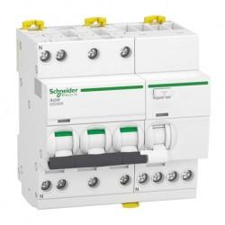 Schneider - Acti9 iDD40K - disjoncteur différentiel - 3P+N C 20A 4500A/4,5A 30mA type AC - Réf : A9DK1720