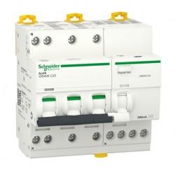 Schneider - Acti9 iDD40K - disjoncteur différentiel - 3P+N C 25A 4500A/4,5A 300mA type AC - Réf : A9DK5725