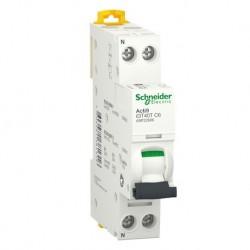 Schneider - Acti9 iDT40T - disjoncteur modulaire - 1P+N - 6A - courbe C - 4500A/6kA - Réf : A9P22606
