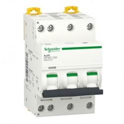 Schneider - Acti9 iDT40T - disjoncteur modulaire - 3P+N - 20A - courbe C - 4500A/6kA - Réf : A9P22720