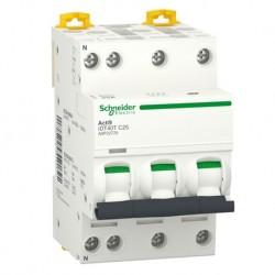 Schneider - Acti9 iDT40T - disjoncteur modulaire - 3P+N - 25A - courbe C - 4500A/6kA - Réf : A9P22725