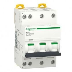 Schneider - Acti9 iDT40T - disjoncteur modulaire - 3P+N - 32A - courbe C - 4500A/6kA - Réf : A9P22732