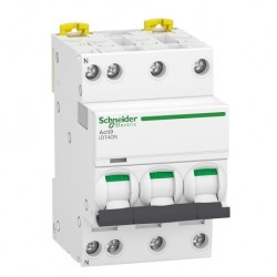 Schneider - Acti9 iDT40N - disjoncteur modulaire - 3P+N C 10A 6000A/10kA - Réf : A9P24710
