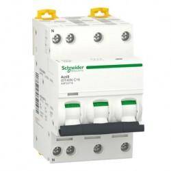 Schneider - Acti9 iDT40N - disjoncteur modulaire - 3P+N C 16A 6000A/10kA - Réf : A9P24716