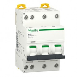 Schneider - Acti9 iDT40N - disjoncteur modulaire - 3P+N C 32A 6000A/10kA - Réf : A9P24732