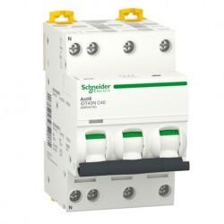 Schneider - Acti9 iDT40N - disjoncteur modulaire - 3P+N C 40A 6000A/10kA - Réf : A9P24740