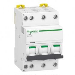 Schneider - Acti9 iDT40T - disjoncteur modulaire - 3P+N - 10A - courbe D - 4500A/6kA - Réf : A9P32710
