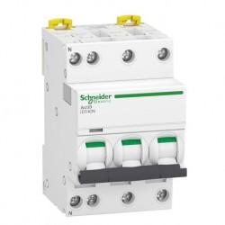 Schneider - Acti9 iDT40N - disjoncteur modulaire - 3P+N D 25A 6000A/10kA - Réf : A9P34725