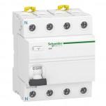 Schneider - Acti9 iIDK - interrupteur différentiel - PdC 4,5kA 4P 25A type AC 30mA - Réf : A9R55425