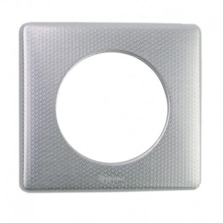 Legrand - Plaque Metal 1P Alu Snake - Réf : 098852