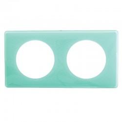 Legrand - Plaque 2P Turquoise 50S - Réf : 098865