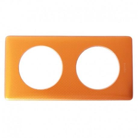 Legrand - Plaque Metal 2P Orange Snake - Réf : 098877
