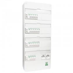 Schneider - Tableau Pré-câblé - Resi9 - 13 Modules 4 Rangées - XP - Réf: SCH13411