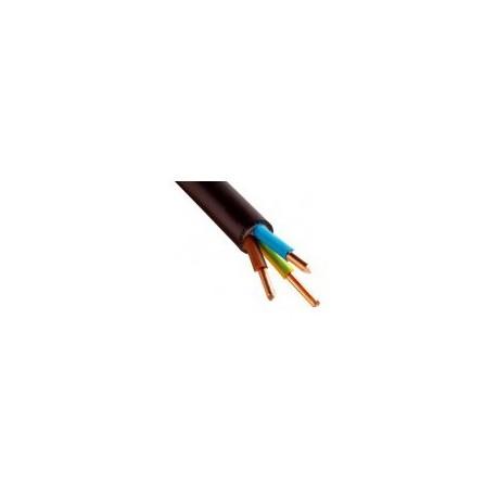Câble U1000 R2V CU (Rigide) - 3G4 mm² - Coupe au mètre - Réf : 026900