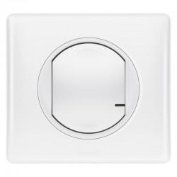 Legrand - Interrupteur variateur connecté Céliane with Netatmo sans neutre 300W - blanc - Réf : 067721
