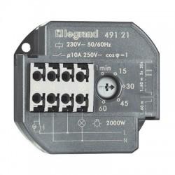 Legrand - Télérupteur unipolaire 10AX 230V~ 50Hz à 60Hz avec minuterie intensité maximum 50mA - Rèf : 049121