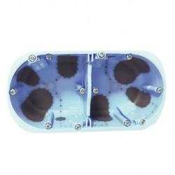 Eur'Ohm - Boîte d'encastrement - XL AIR'métic - 2 postes - prof. 40 mm - Réf : 52064