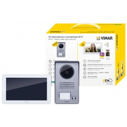 "Kit Visiophone mains libres avec moniteur 7"" - Blanc/Gris   Vimar - K40955"