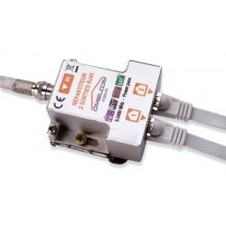 Omelcom - Kit répartiteur TV/SAT sur 2 sorties RJ45 - Ref : GO187
