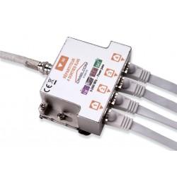 Omelcom - Kit répartiteur TV/SAT sur 4 sorties RJ45 - Ref : GO188