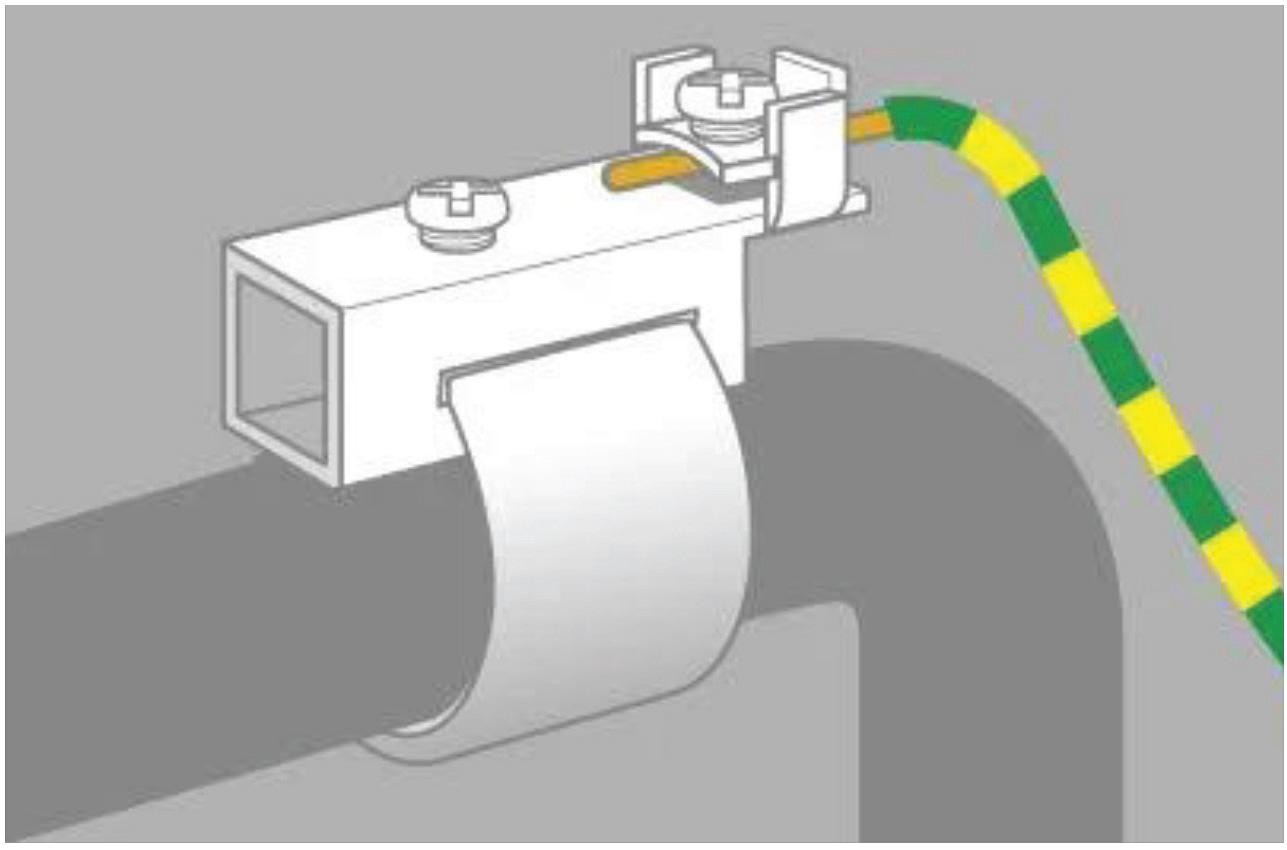 branchement tuyau canalisation a la terre